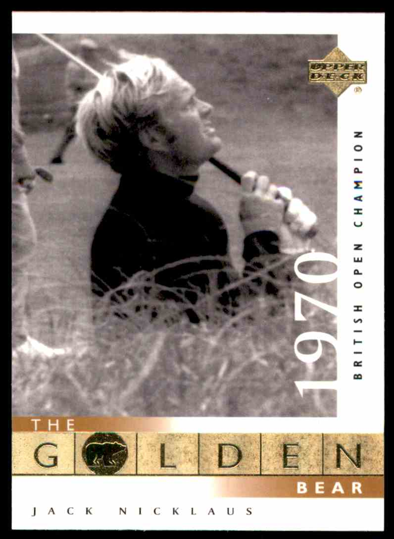 2001 Upper Deck J.Nicklaus Gb 70 British #113 card front image