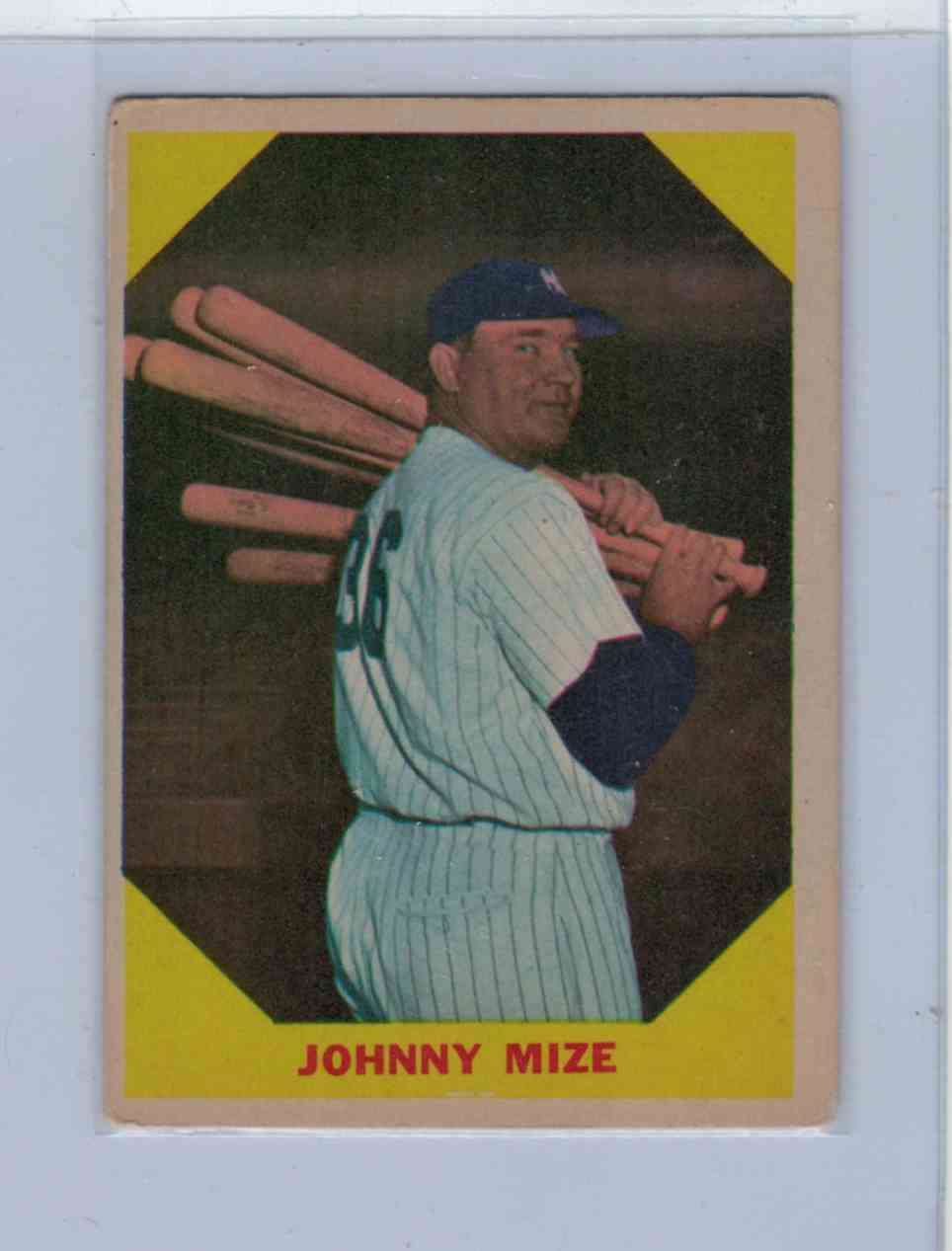 1960 Fleer Baseball Greats Johnny Mize #38 card front image