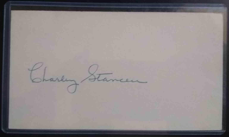 1941 3X5 Charley Stanceu card back image