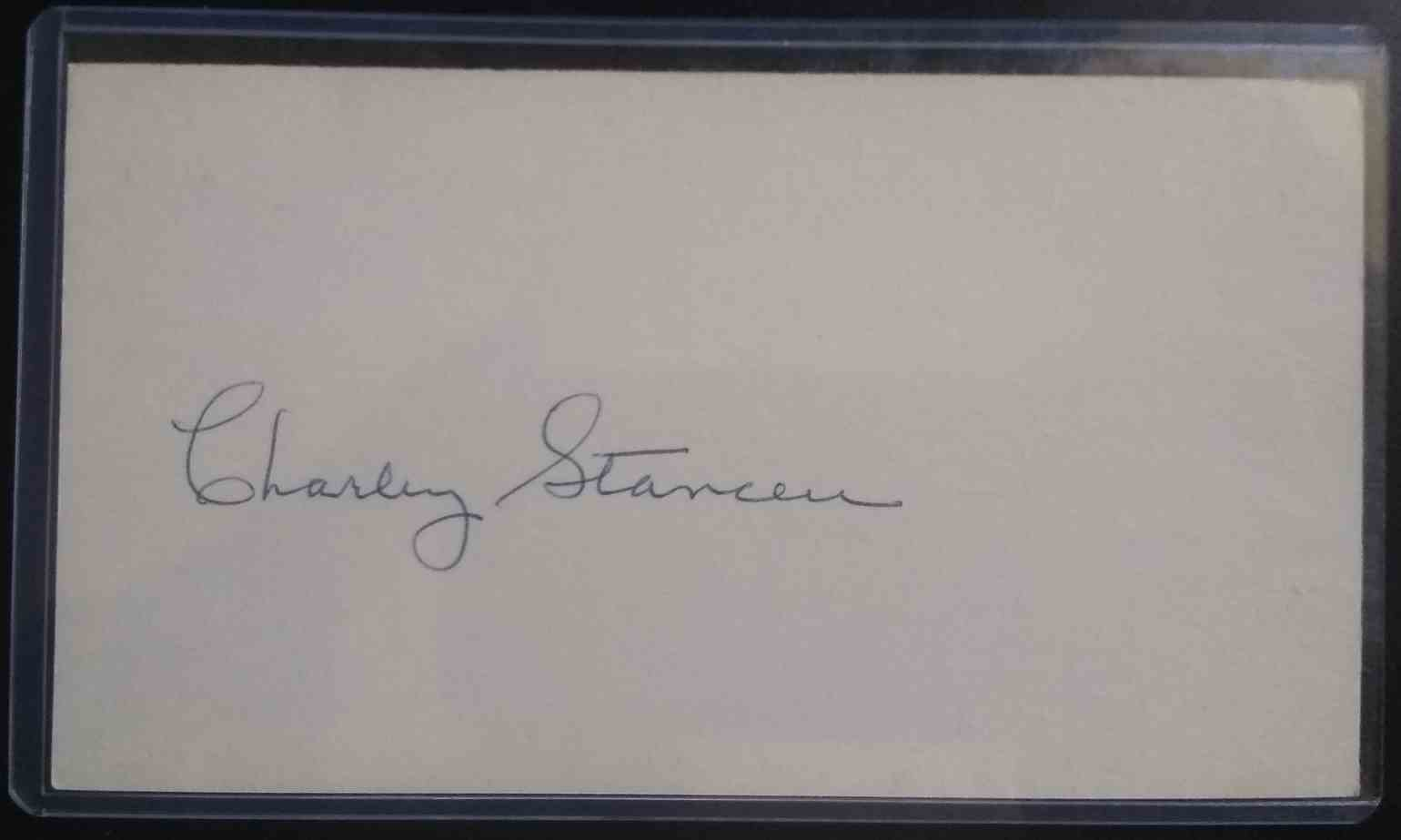 1941 3X5 Charley Stanceu card front image