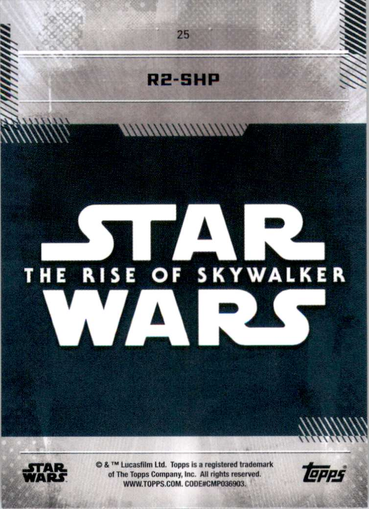 2019 Star Wars The Rise Of Skywalker Series One R2-Shp #25 card back image
