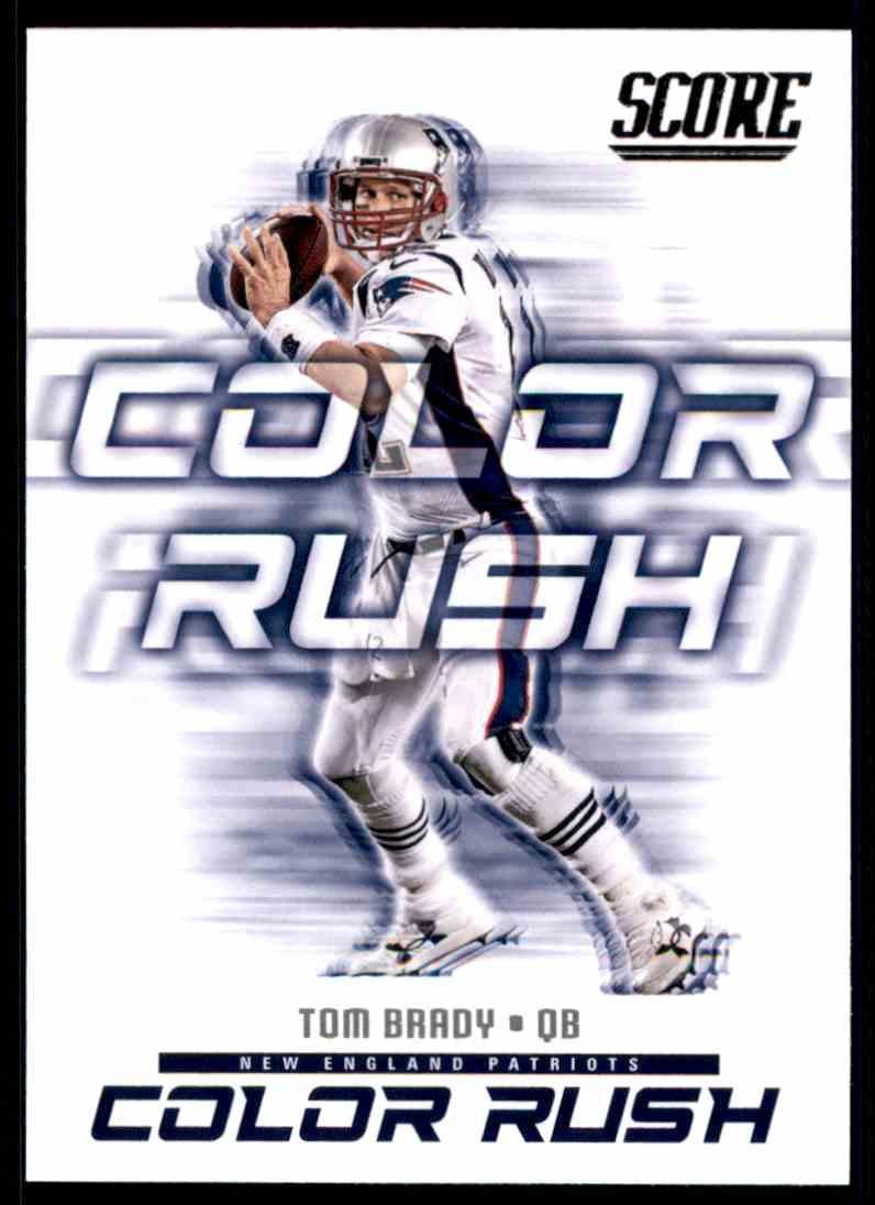 huge discount bb479 462ae 2018 Score Color Rush Tom Brady #1 on Kronozio