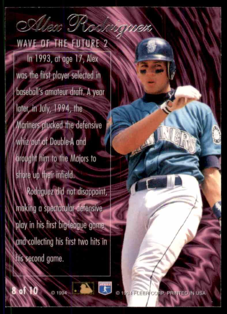 1994 Flair Wave Of The Future Alex Rodriguez 8 On Kronozio