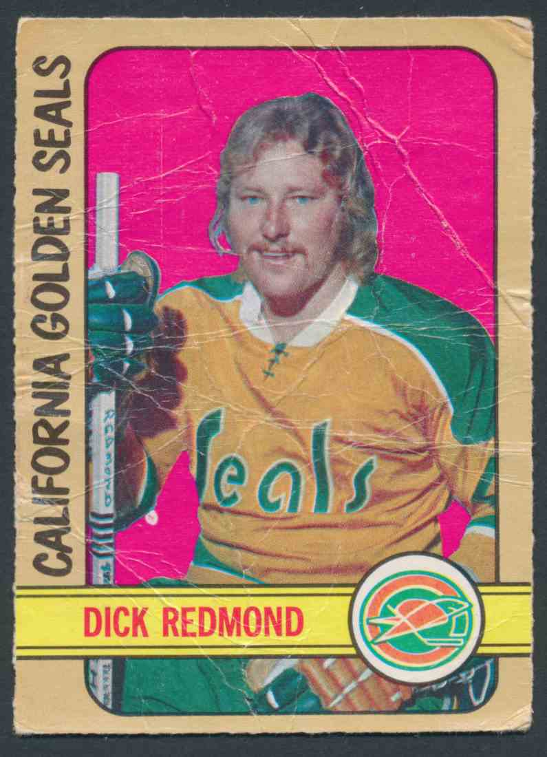 1972-73 O-Pee-Chee Dick Redmond card front image