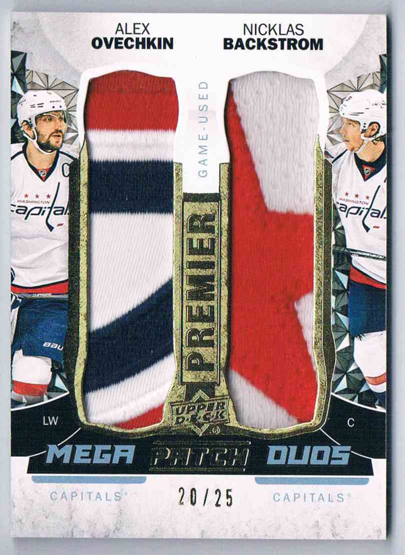 2015-16 Premier Mega Patch Duos Alex Ovechkin Nicklas Backstrom #PMP2-OB card front image