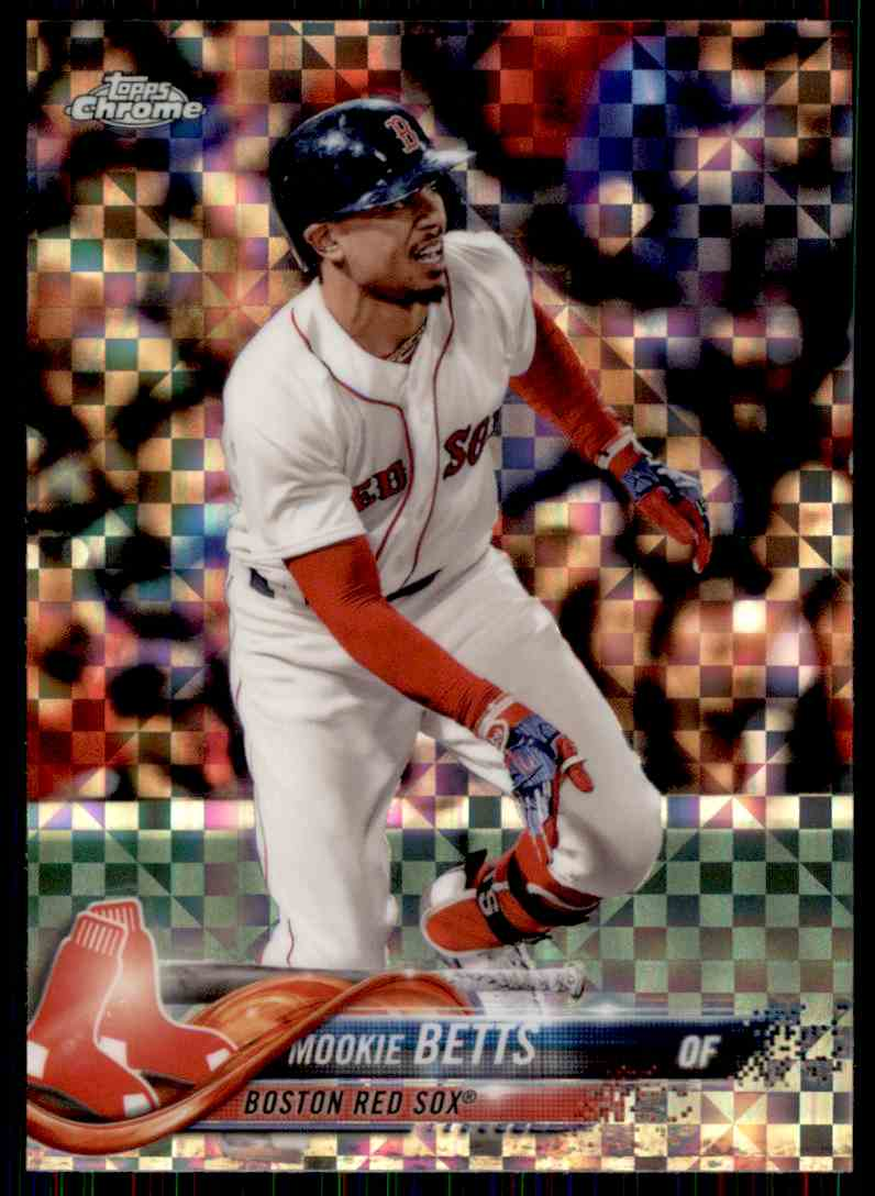 2018 Topps Chrome X-Fractor Mookie Betts #183 card front image