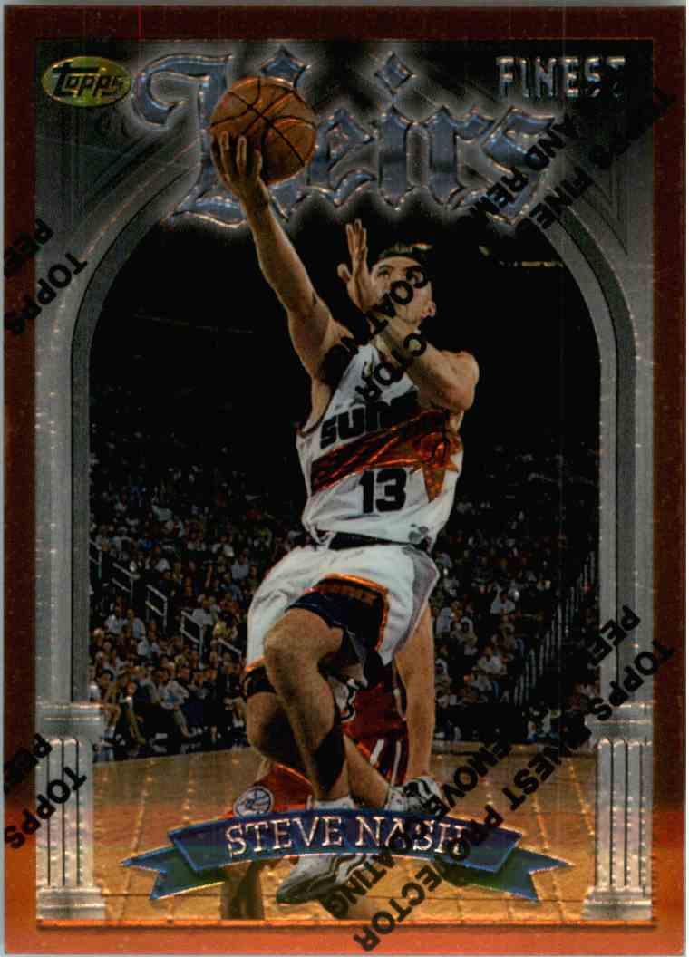 1996-97 Topps Finest Steve Nash #217 card front image