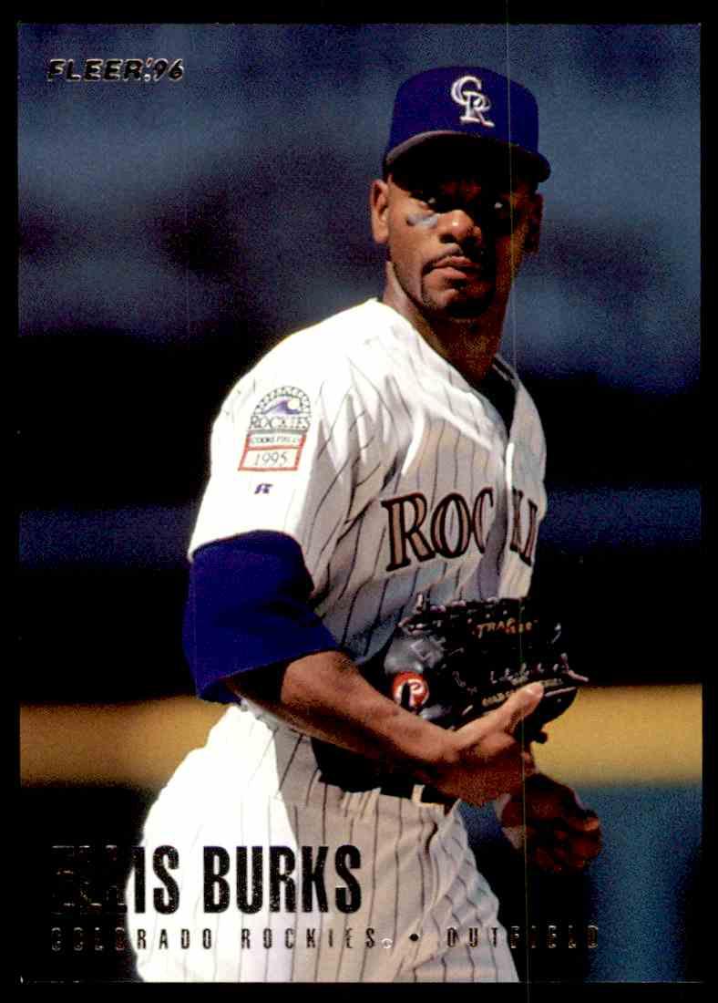 1996 Fleer Rockies Ellis Burks 3 On Kronozio