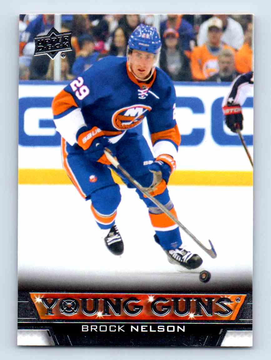 2013-14 Upper Deck Young Guns Brock Nelson #204 card front image