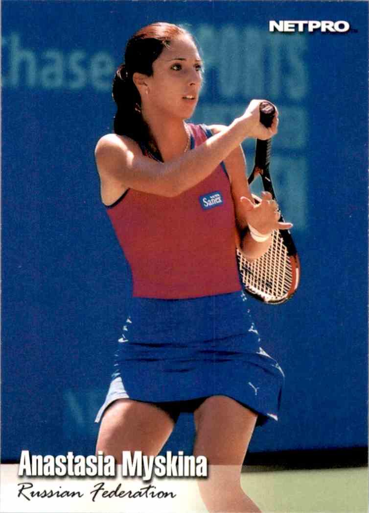 2003 NetPro Anastasia Myskina RC #55 card front image