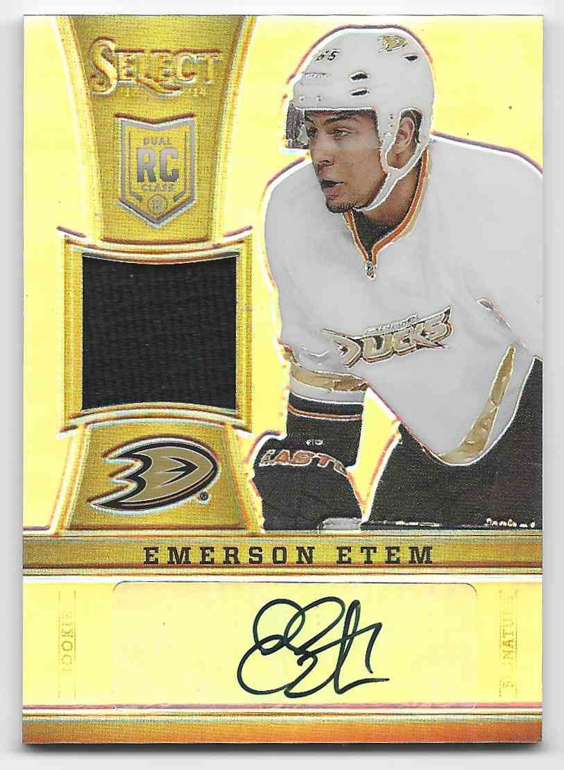2013-14 Select Rookies Jersey Autographs Prizms Emerson Etem #269 card front image