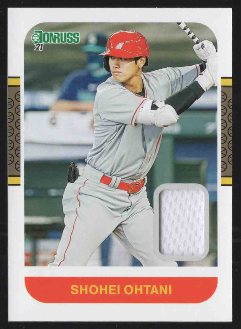 2021 Donruss Retro '87 Materials Shohei Ohtani #87MSO card front image