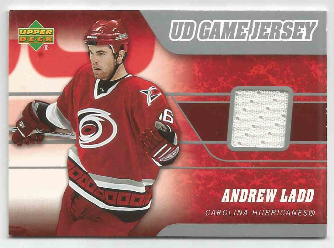 2006-07 Upper Deck Game Jersey Andrew Ladd #JLA card front image