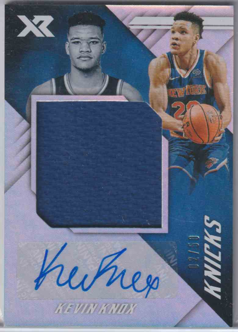 2018-19 Panini Chronicles Xr Rookie Jumbo Swatch Autographs Kevin Knox #XR-KNX card front image