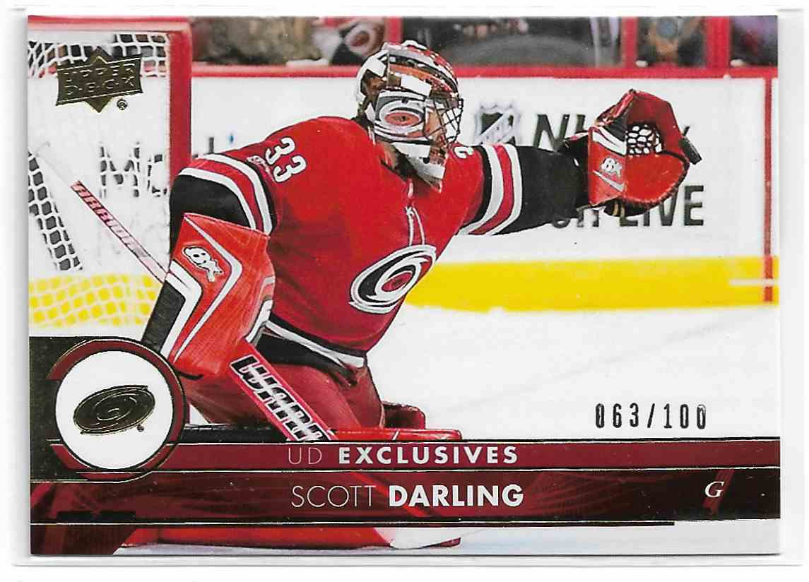2014-15 Upper Deck UD Exclusives Scott Darling #283 card front image