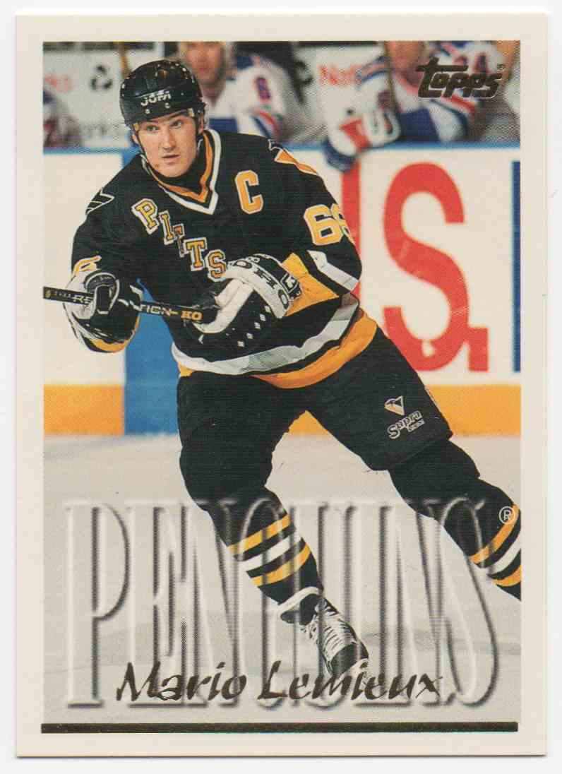 1995-96 Topps Mario Lemieux #100 card front image