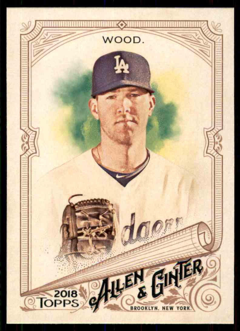 2018 Topps Allen & Ginter Alex Wood #87 card front image