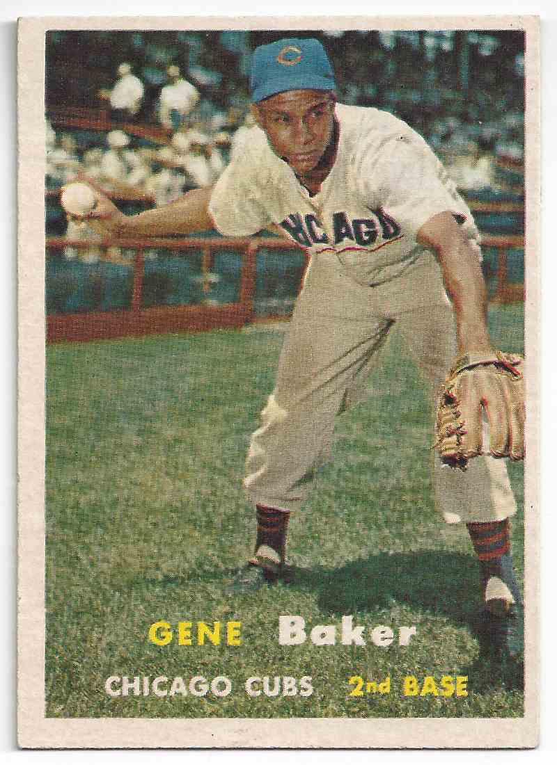 1957 Topps Gene Baker #176 card front image