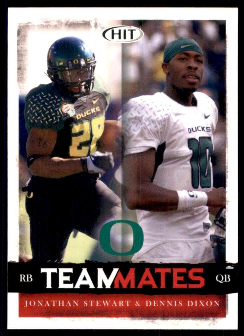2008 Sage Hit Jonathan Stewart/Dennis Dixon #58 card front image