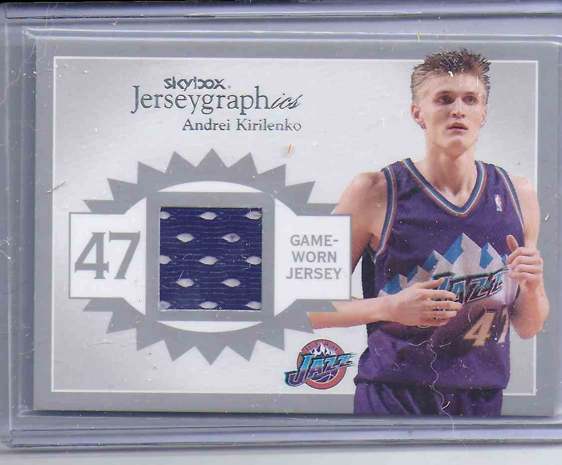 2003-04 Skybox Autographics Jerseygraphics Silver Andrei Kirilenko #AK card front image