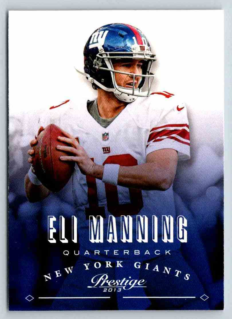 2013 Prestige Eli Manning #126 card front image