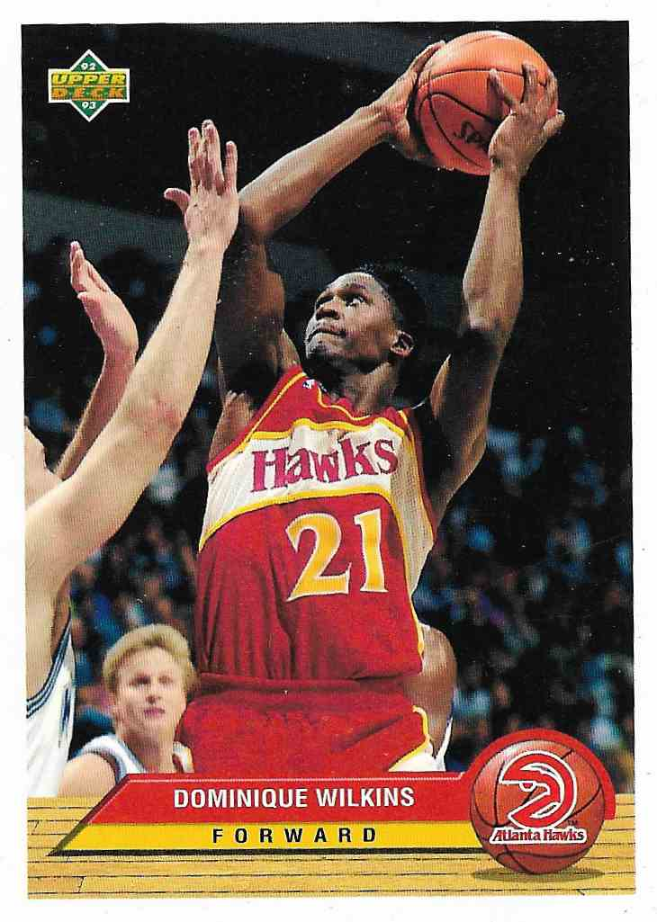 1993-94 Upper Deck McDonald Dominique Wilkins #P1 card front image
