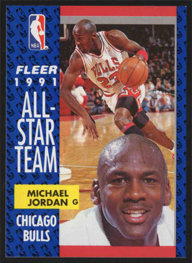 1991-92 Fleer Michael Jordan As #211 card front image