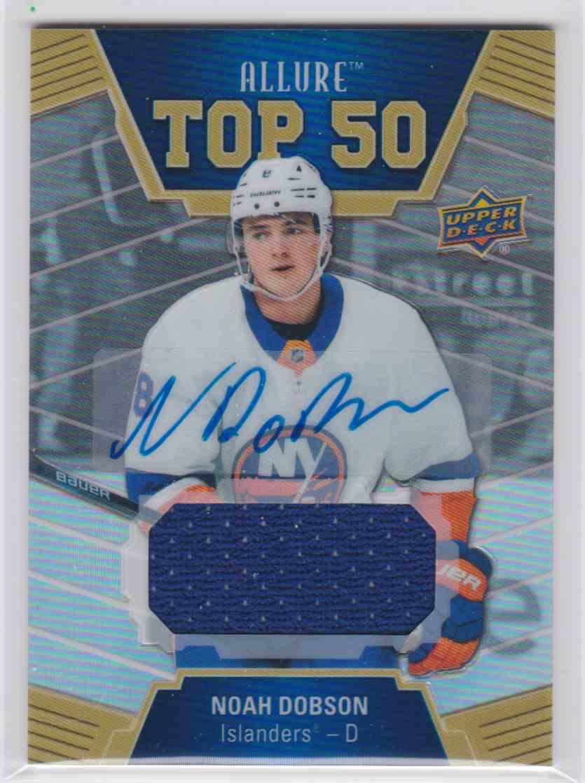 2019-20 Upper Deck Hockey Allure Noah Dobson - Top 50 #T50-29 card front image