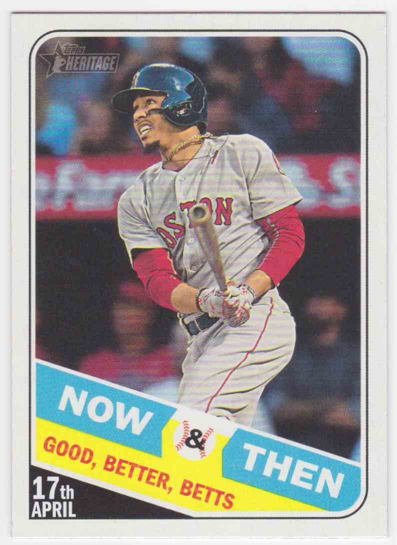 2018 Topps Heritage Now And Then Mookie Betts Nt 7 On