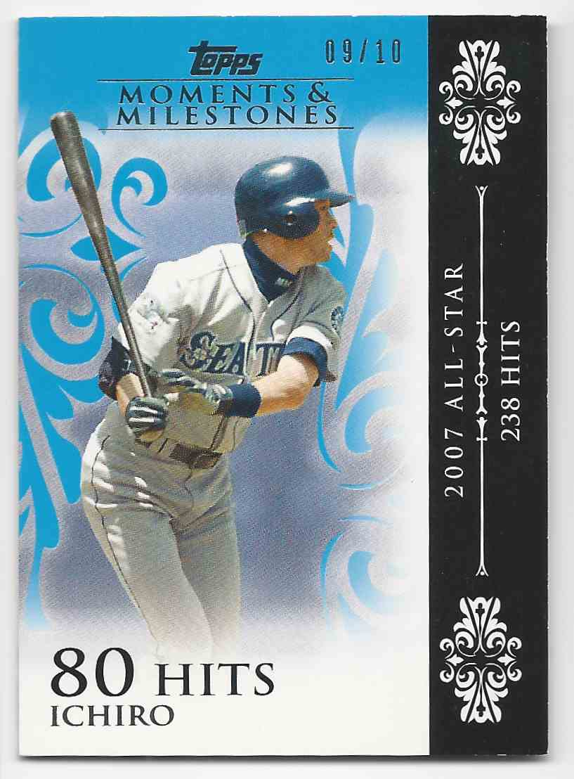 2008 Topps Moments And Milestones Blue Ichiro #63-80 card front image