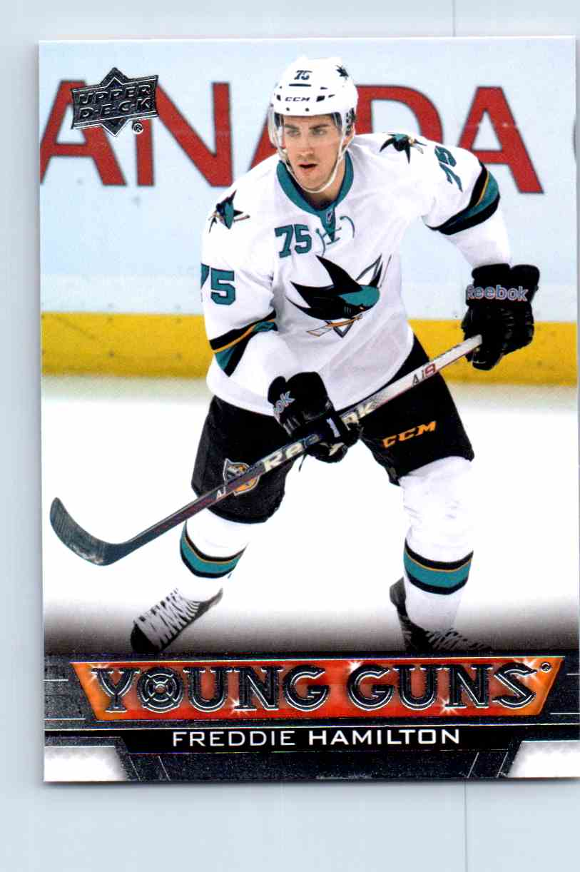 2013-14 Upper Deck Young Guns Freddie Hamilton #458 card front image