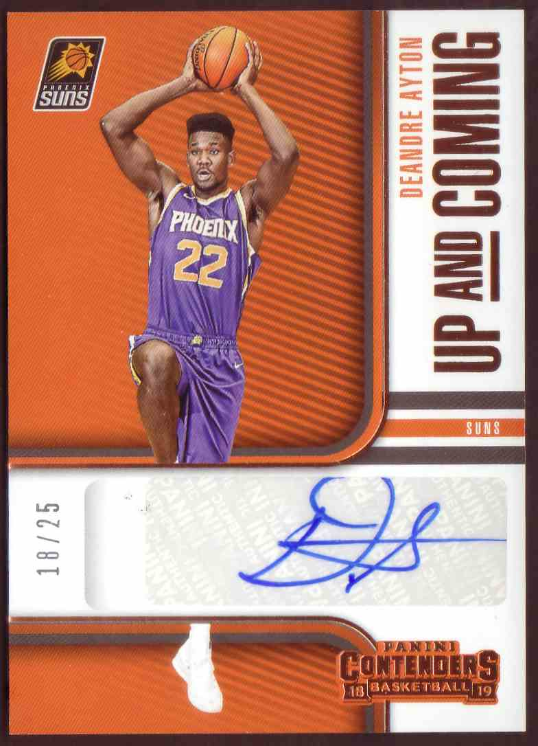 2018-19 Panini Contenders Up And Coming Autographs Bronze DeAndre Ayton #UC-DAY card front image