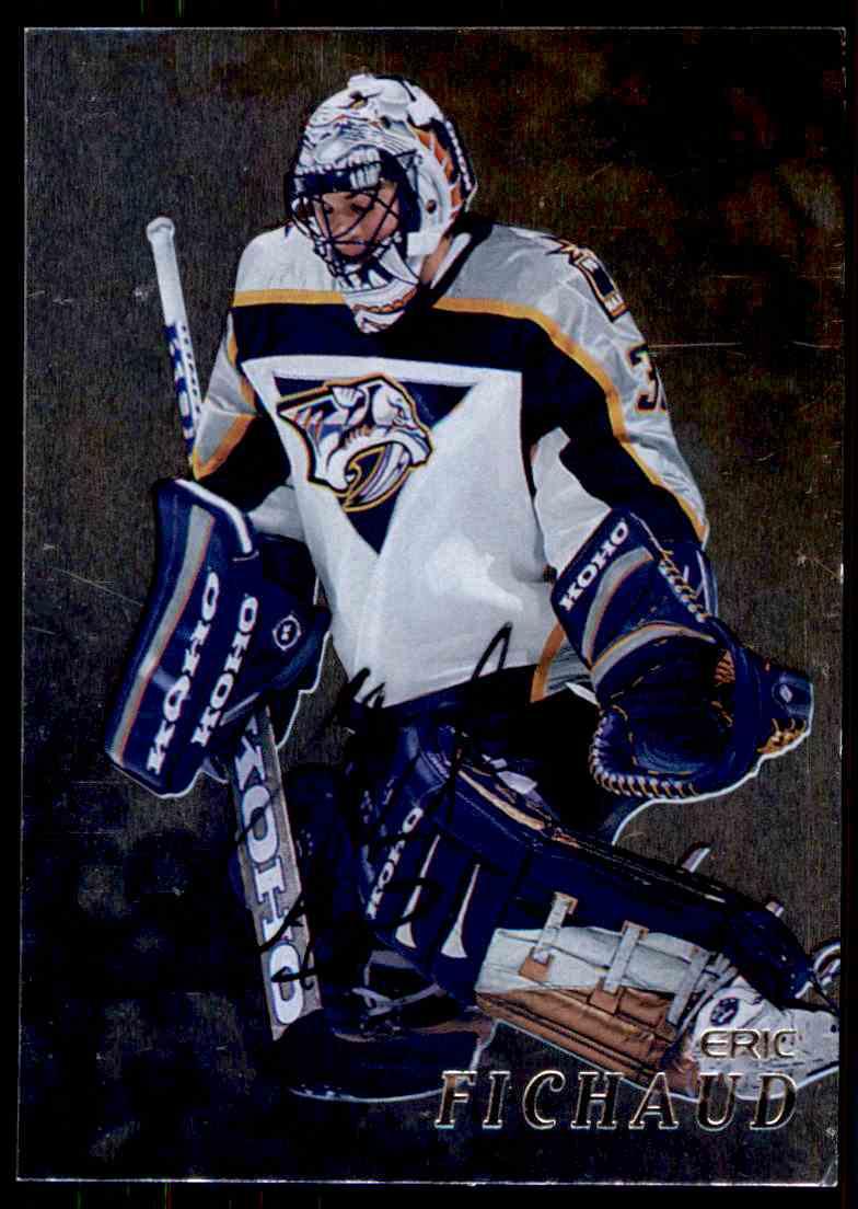 1998-99 Be A Player Autographs Eric Fichaud #227 card front image