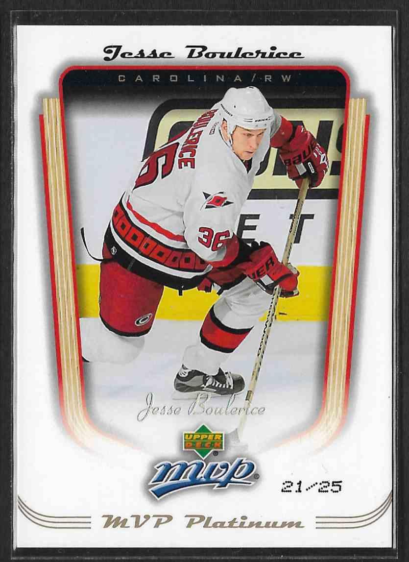 2005-06 Upper Deck MVP MVP Platinum Jesse Boulerice #83 card front image