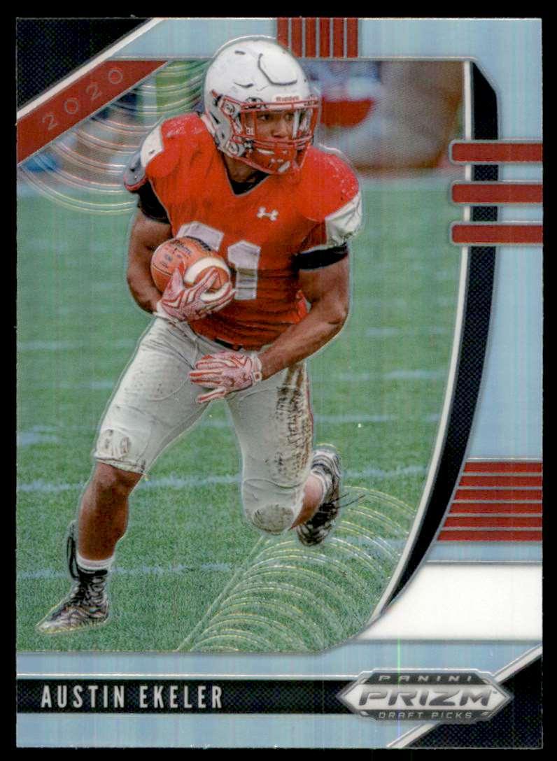 2020 Panini Prizm Draft Picks Prizms Silver Austin Ekeler #8 card front image