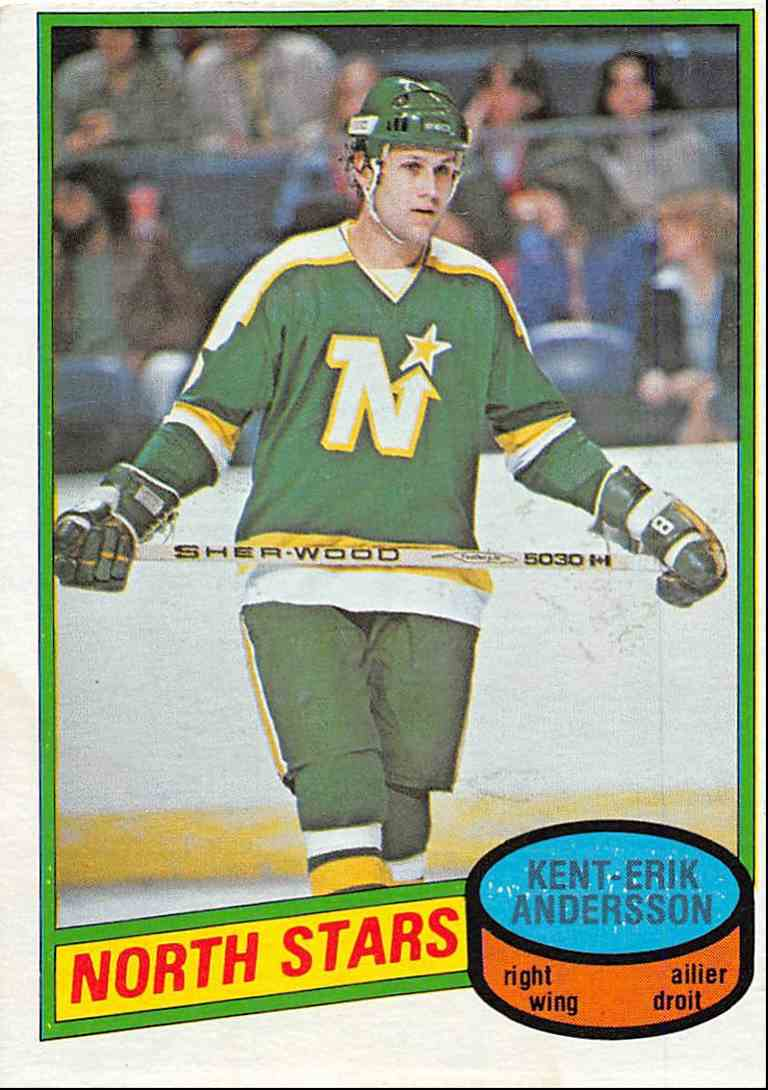 1980-81 O-Pee-Chee Kent-Erik Andersson #383 card front image