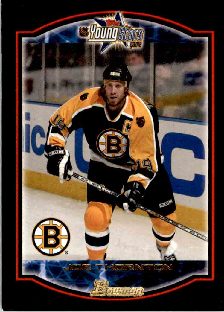 2002 03 Bowman Young Stars Joe Thornton 5 On Kronozio