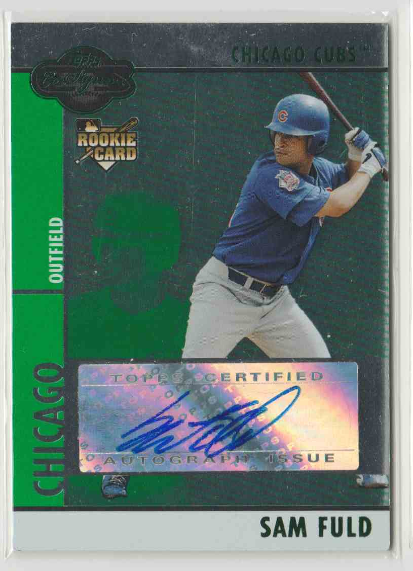 2008 Topps Co-Signers Silver Green Sam Fuld #104 card front image