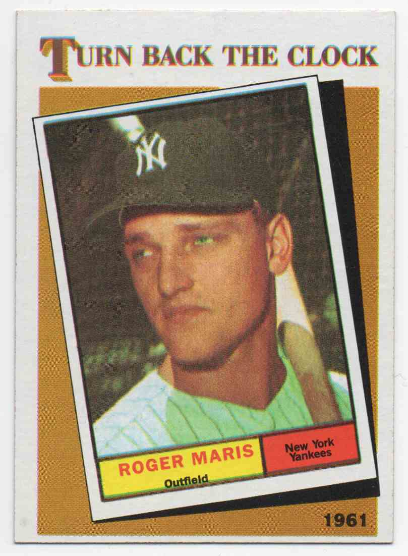 1986 Topps Roger Maris #405 card front image