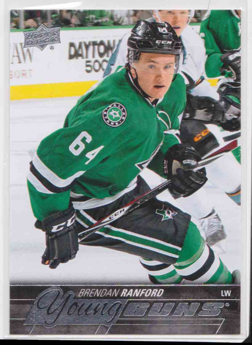 2015-16 Upper Deck Young Guns Brendan Ranford RC #463 card front image
