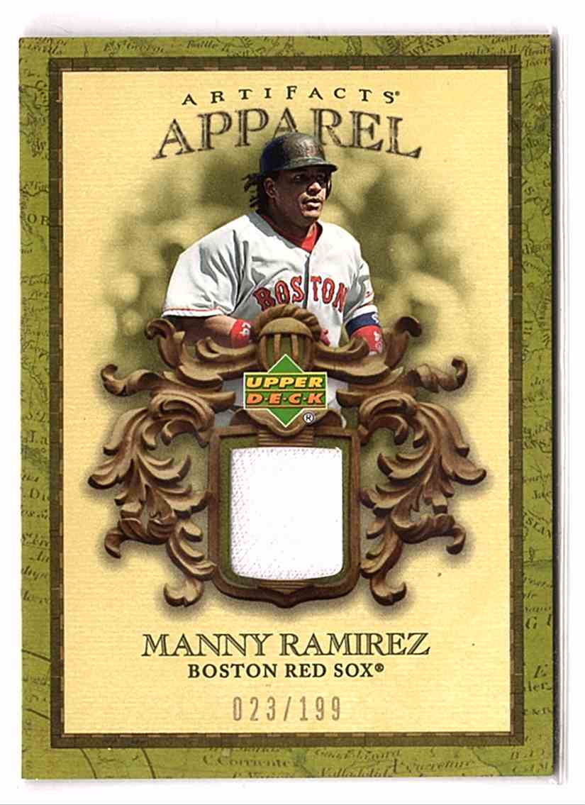 2007 Artifacts MLB Apparel Manny Ramirez #MLBMR card front image