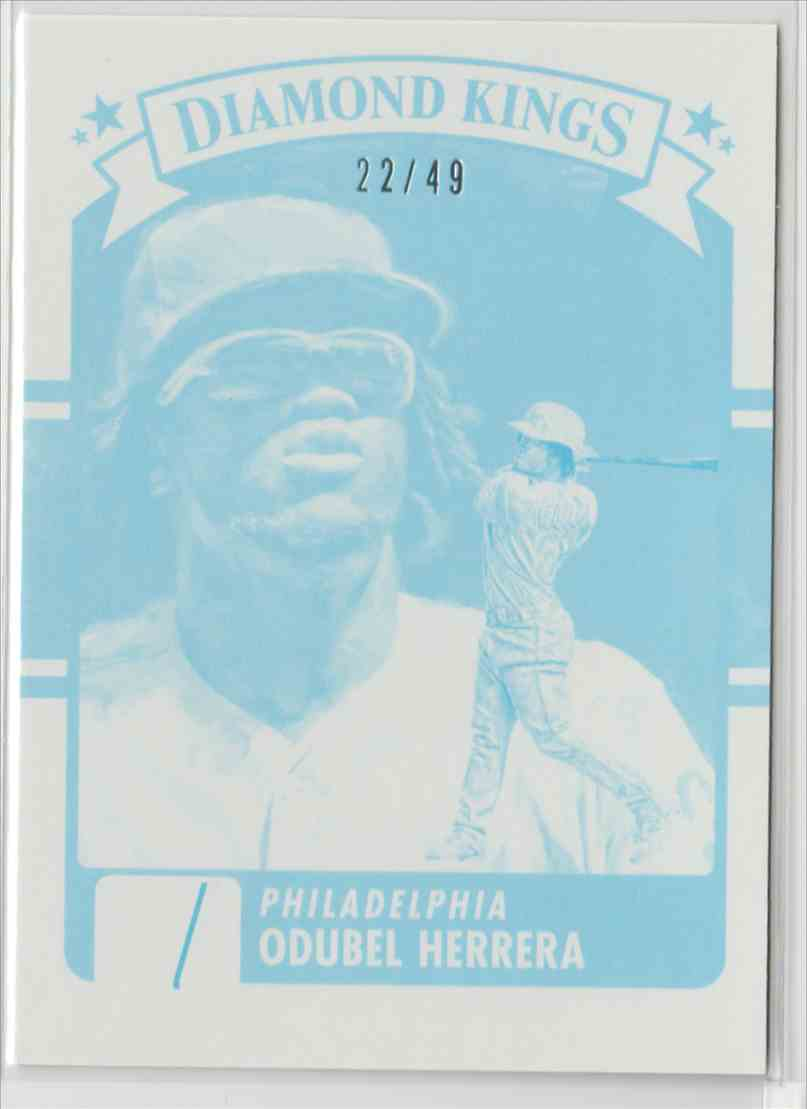 2016 Donruss Test Proof Cyan Odubel Herrera #21 card front image