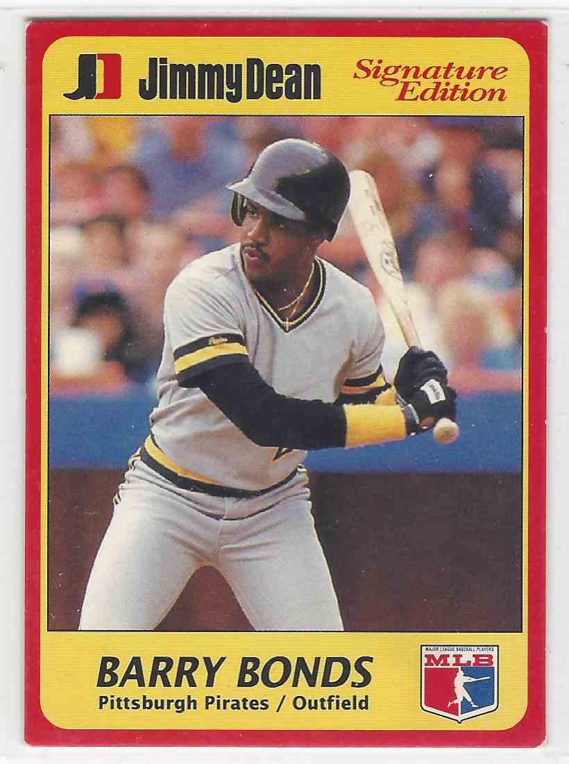 1991 Jimmy Dean Signature Edition Barry Bonds 4 On