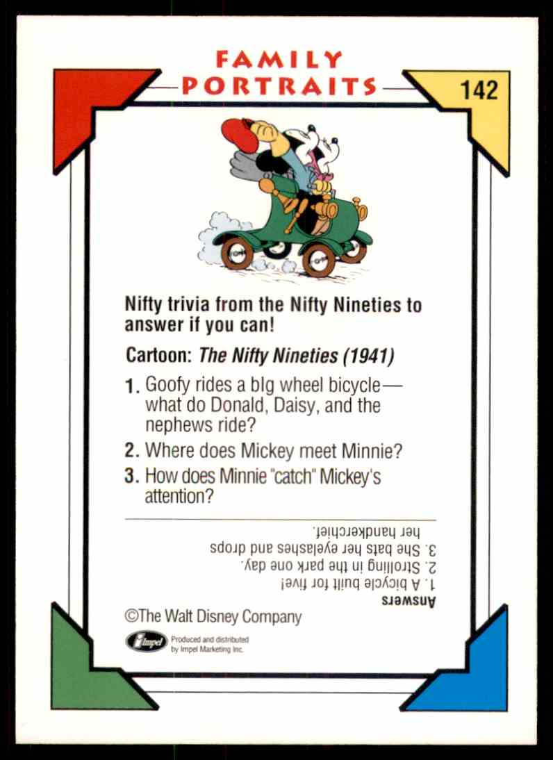 1991 Disney Series One The Nifty Nineties 1941 #142 card back image
