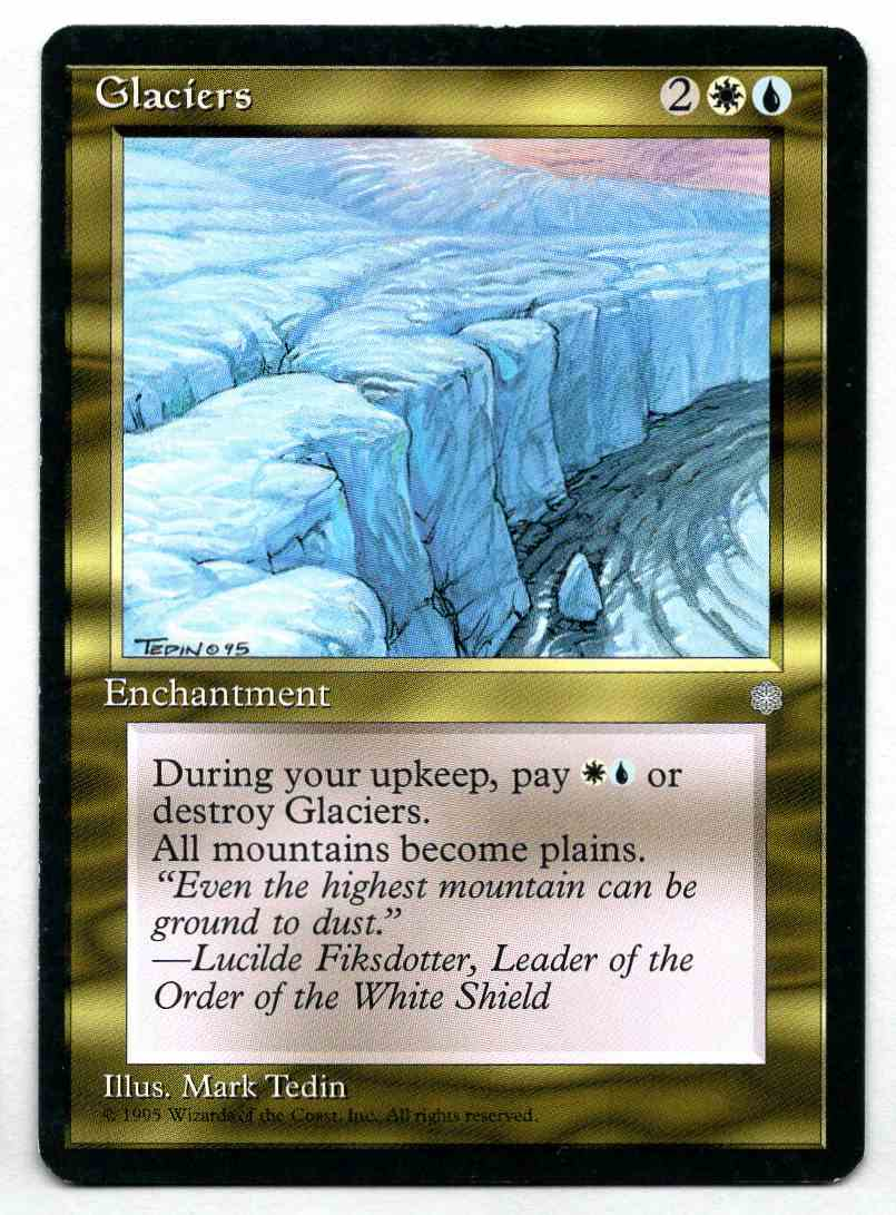 1995 Ice Age Glaciers card front image