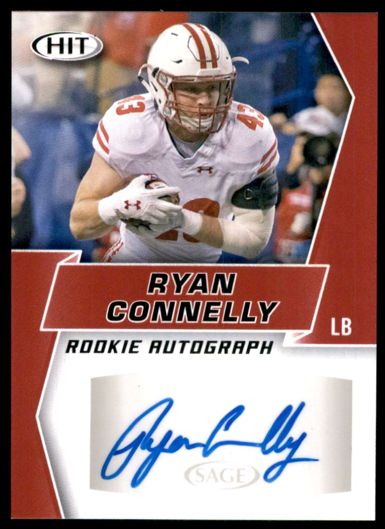 2019 Sage Hit Autographs Red Ryan Connelly #A61 card front image