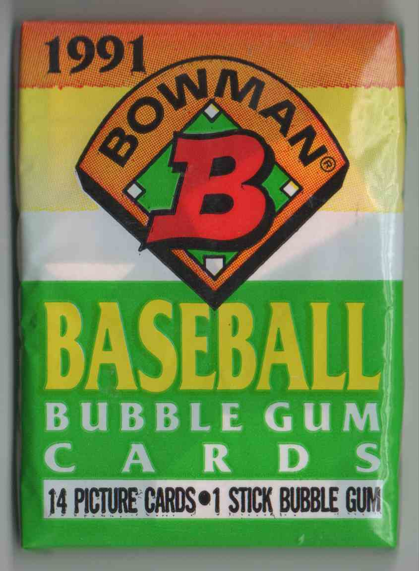 1991 Bowman Unopened Pack #14 card front image