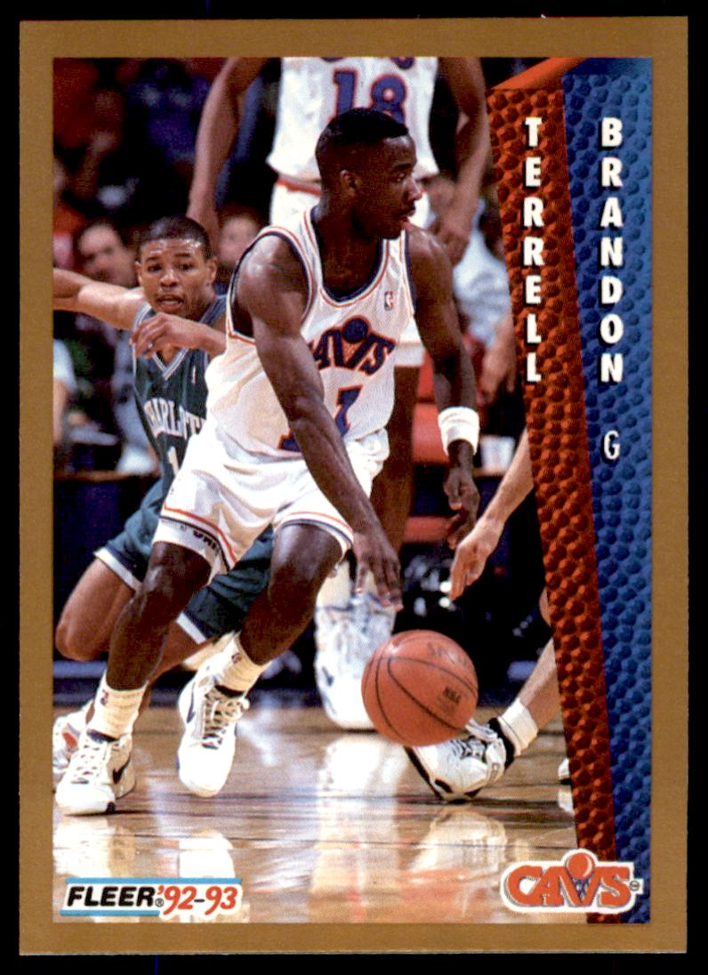 1992 93 Fleer Terrell Brandon 39 on Kronozio