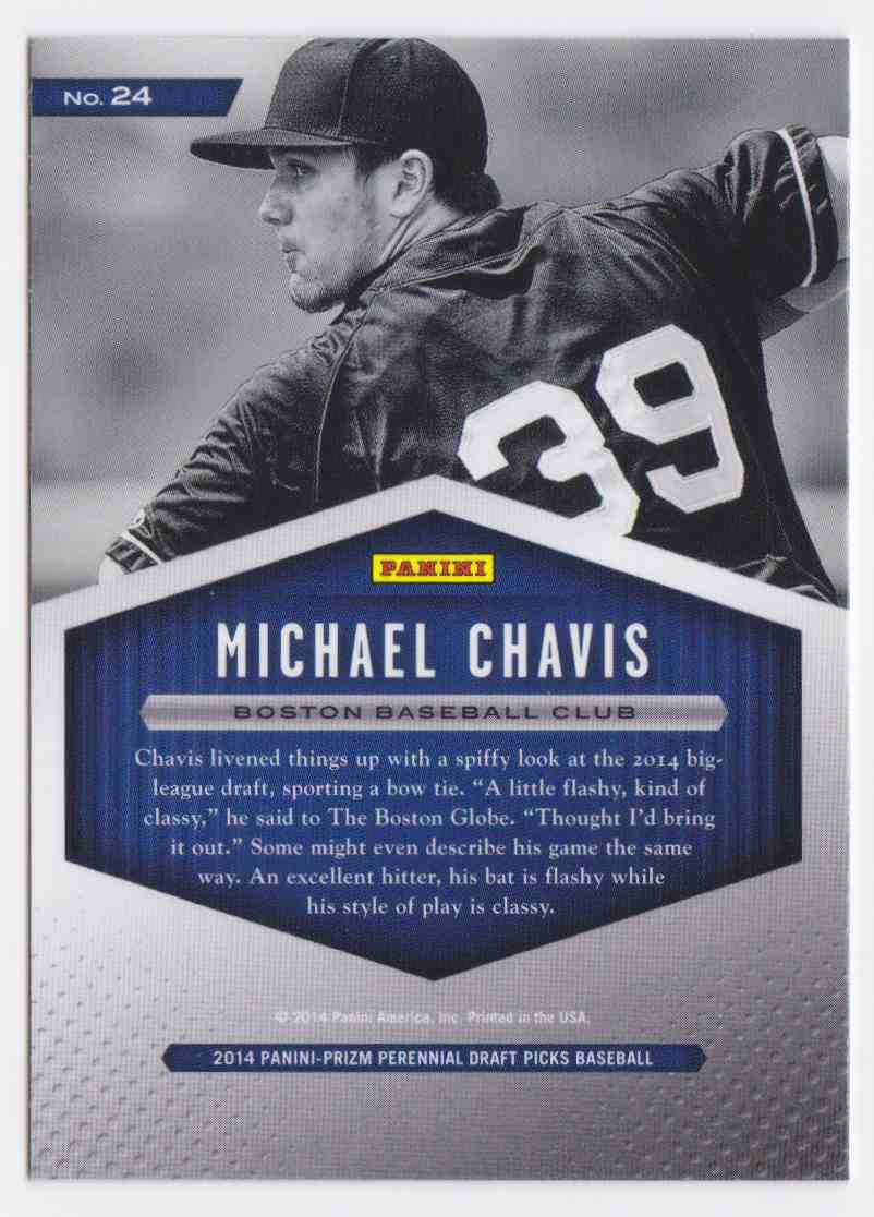 2014 Panini Prizm Draft Picks Draft Class Michael Chavis #24 card back image