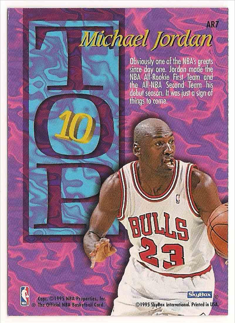 1995-96 Skybox NBA Hoops Michael Jordan #AR7 card back image